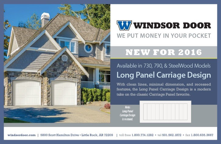 Windsor Door Long Panel Carriage - New Product Release!